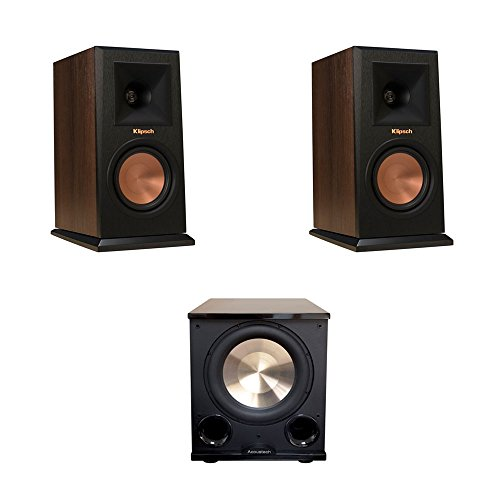 Klipsch 2 RP-150M Walnut Monitor Speakers, 1 BIC/Acoustech P