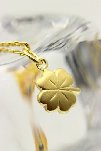 Kleeblatt 8K GOLD,Gl/ücksbringer Klee-Blatt,doppelseitig,matt//glanz ASS 333 Gold Anh/änger Goldanh/änger