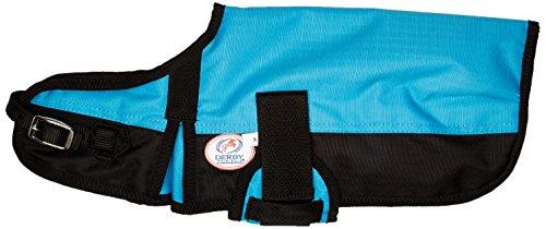 Blanket Coat (Derby Originals 600D Waterproof 150G Insulated Dog Blanket Coat at Wholesale Price (Hurricane Blue, Small))