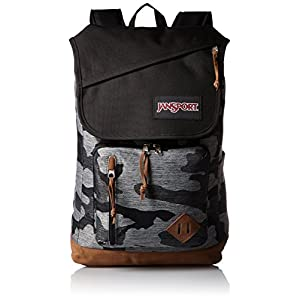 JanSport HENSLEY Backpack - GREY DENIM CAMO JACQUARD - Mens - O/S