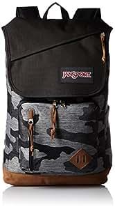 JanSport HENSLEY Backpack - GREY DENIM CAMO JACQUARD - Mens - O/S
