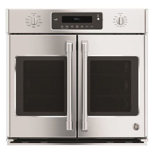 GE Cafe CT9070SHSS 30'' Single French Door Electric Wall Oven with Self-Clean in Stainless Steel by GE