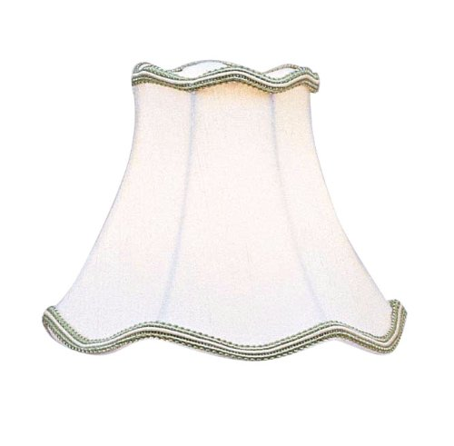 Livex Lighting S148 Bell Clip Chandelier Shade with Green Trim, 6