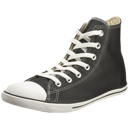 online store 68668 36221 Converse Unisex Chuck Taylor Slim Leather HI Lace-Up Black 113936 3 UK