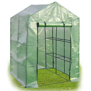 8 Shelves Greenhouse Portable Mini Walk In Outdoor Green House 2 Tier New from Genric