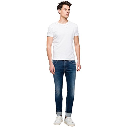 Anbass Jeans Blue Uomo Slim Replay p5dq5
