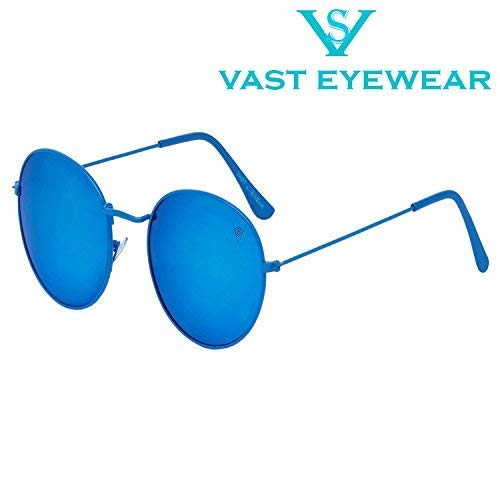 83fa35f23b Vast Double Shaded BlUE Round Unisex Sunglasses  (3447 C12 ROUND BLUE BLUE NEW)  Amazon.in  Clothing   Accessories