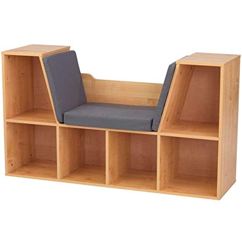 (KidKraft Bookcase with Reading Nook Toy, Natural)