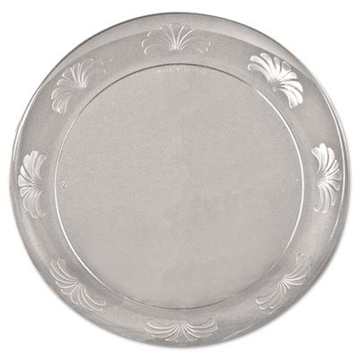 WNADWP75180 - Designerware Plastic Plates, 7 1/2 Inches, Clear, Round, 10/Pack (Dinnerware Designerware Plastic)