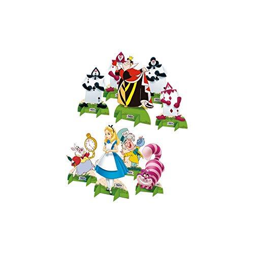 Decoracao De Mesa R265 Alice Disney - Pacote Com 09 Un Regina Colorido