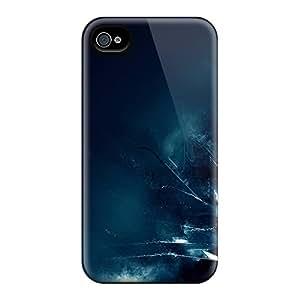 Hot Design Premium WDxvtDu3931oyHyU Tpu Case Cover Iphone 4/4s Protection Case(digital Art)