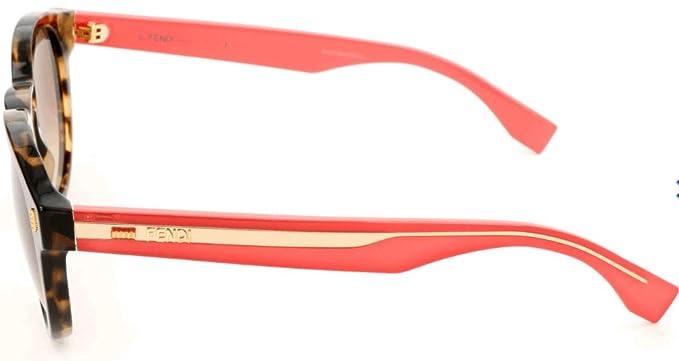 Amazon.com: Fendi anteojos de sol Tortuga de la mujer Bright ...