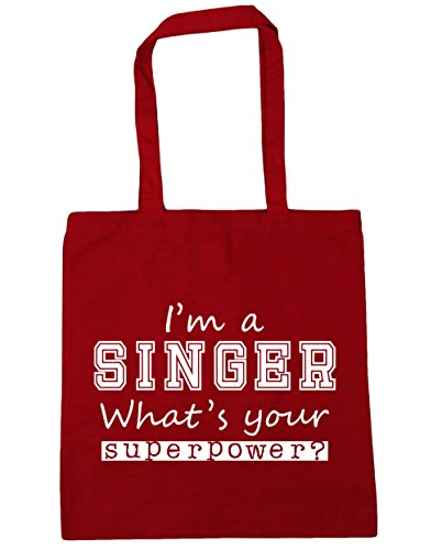 42cm HippoWarehouse I'm Beach What's Singer Gym a litres Bag Classic Tote Red Shopping Superpower Your x38cm 10 zzqwPdr
