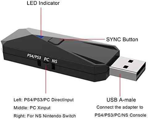 PS4 Adaptador USB de Controlador inalámbrico para Nintendo Switch ...