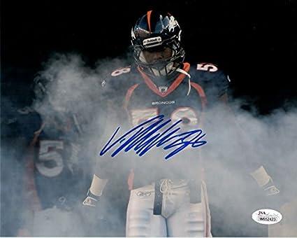 86a791a3 Von Miller Autographed Denver Broncos 8x10 photo (Horizontal smoke ...