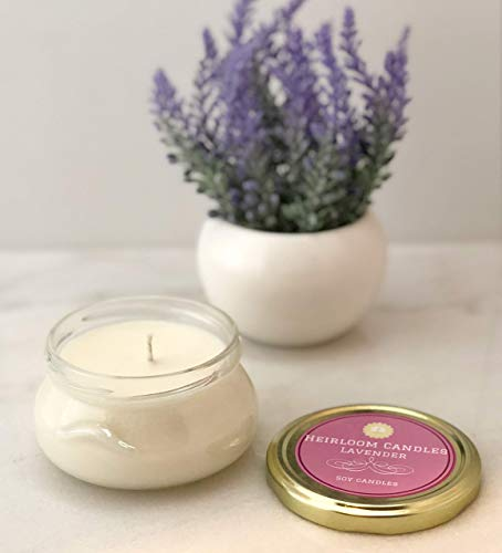 (Lavender Soy Candle - Handmade in Glass Tureen, 6oz)