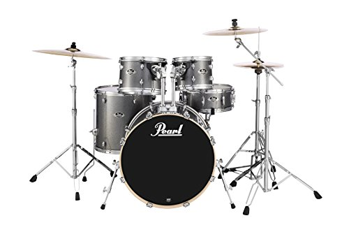 Pearl EXX725S/C708 Export Series 5-Piece Drum Kit, Grindstone Sparkle (Cymbals Sold ()