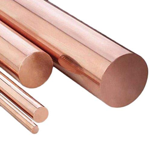 12mm Dia. 9.85'' Long 99.9% Pure Copper T2 Cu Metal Rods Cylinder by Yodaoke