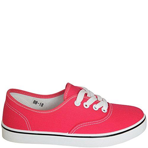 fifteen - Zapatos de cordones de Material Sintético para mujer Blanco blanco Blanco - Watermelone Red (Pink)