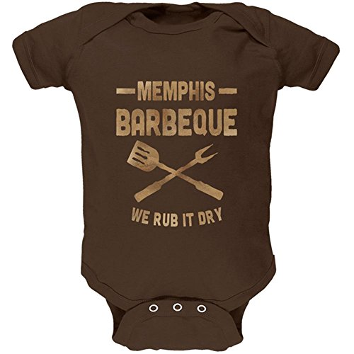 Price comparison product image Old Glory Memphis Barbeque Rub It Dry Soft Baby One Piece Brown 3-6 M