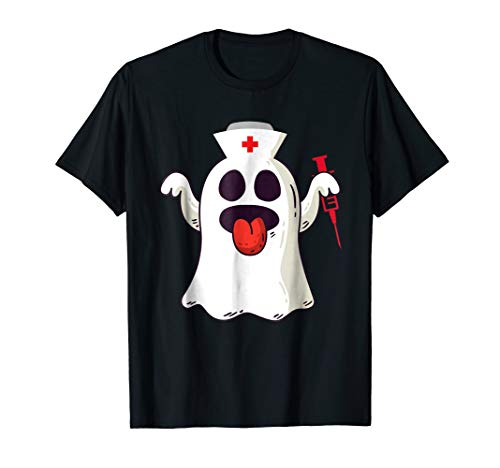 Funny Halloween Nurse ghost shirt - halloween costume ()