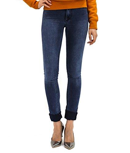 Wiberlux Acne Women's Cuffed Hem Skinny Jeans 24 (Acne Jeans Skinny Jeans)
