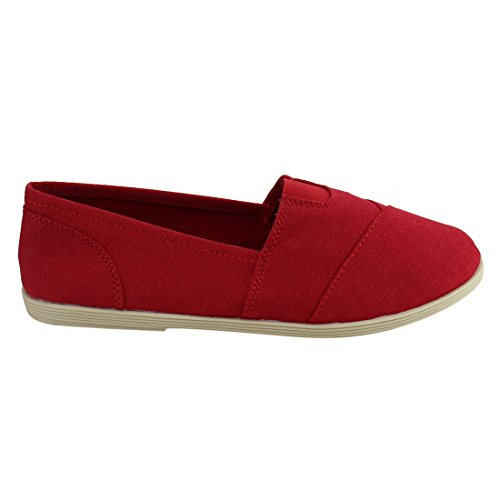 with RND Women's Red Flat Insole Toe Casual Shoes Soda Padded Obji tTq50Tw