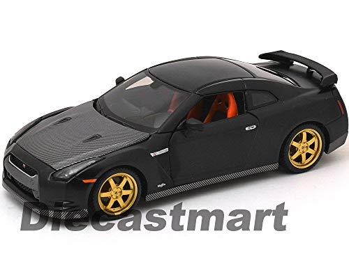 MWDx102 All Star 1:24 2009 Nissan Skyline GTR R35 DIECAST Model Matte Black 31339