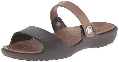 crocs Coretta W, Women Sandals, Brown, 4, Brown (Espresso/Bronze), 6 AU