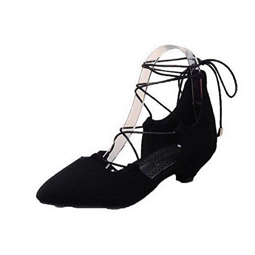 Donna Basso Punta Nero Fbuilc007802 Puro Allacciare Allhqfashion Sandali Plastica Tacco Chiusa pf1xpqd