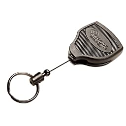 KEY-BA 0S48-613 Super48 Heavy Duty Retractable Key Holder with Kevlar Cord and Ball-Joint Lock, Leather Loop, Xtreme Duty (28\