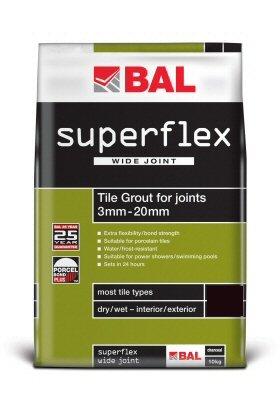 Superflex Wide Joint Grout Sandstone 10 Kg, Grout Cream BAL Wall Tile Grout, Per Unit