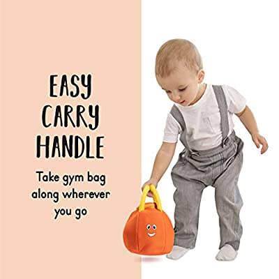 Plush Creations Sports Plush Bag with 4 Talking Soft Plush Balls. Sport Set Includes Plush Sports Bag Plush Basketball Plush Baseball Plush Soccer Ball and Plush Football. Great Baby and Toddler Gift: Toys & Games