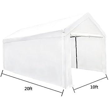 kdgarden 10 x 20 ft. Carport Car Canopy Portable Garage Shelter ...