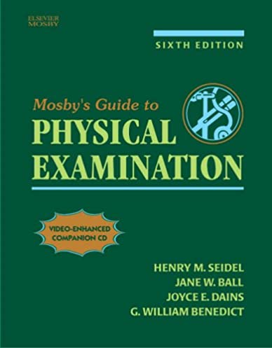 mosby s guide to physical examination 6e 9780323028882 medicine rh amazon com mosby's guide to physical examination pdf mosby's guide to physical examination pdf free download