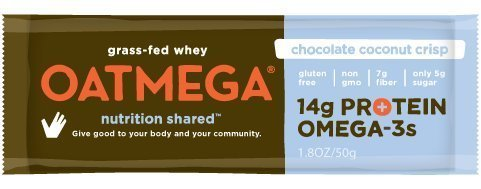Boundless Nutrition Oatmegabar Chocolate Coconut Crisp Omega 3 & Protein Bars 12 (1.8 oz.) bars per box - 3PC