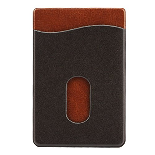 Sevenly Traders BLKBRWN1 Phone Card Holder, Stick-on Leat...