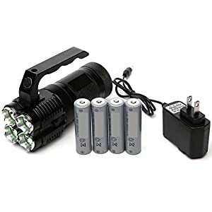 Worlds Brightest -VIENNAGE- 4000 Lumen High Power LED Rechargeable Spotlight - Portable and Easy to Carry