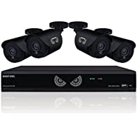 8 Channel 1080 Lite HD Analog Video Security System with 1 TB HDD and 4 x 720p HD Wired Cameras