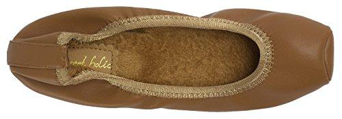 Flats Brown Toe Elastic Holic Faux Sweet Warm Fur Ballet Snub Womens vUzqwwxC