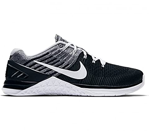 Nike Metcon Xds Flyknit Mens Cross Training Shoes Black/White 12 D(M) US (Nike 5 0 Men Green)