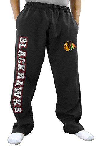 NHL Men's Premium Fleece Official Team Sweatpants (Chicago Blackhawks, ()