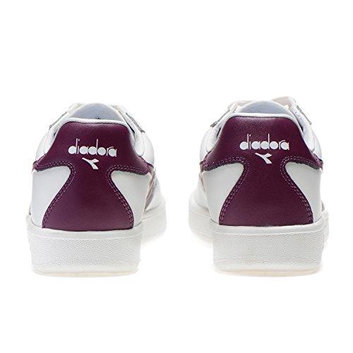 Bianco Amaranto Low viola Unisex Scarpe C6618 Elite B Diadora Top Adulto C8qpxv