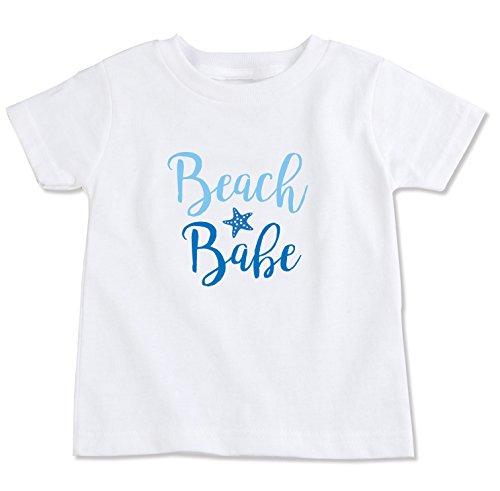 Fish Cotton Organic Tee - The Spunky Stork Beach Babe Organic Cotton Toddler Girl T Shirt (18-24M)