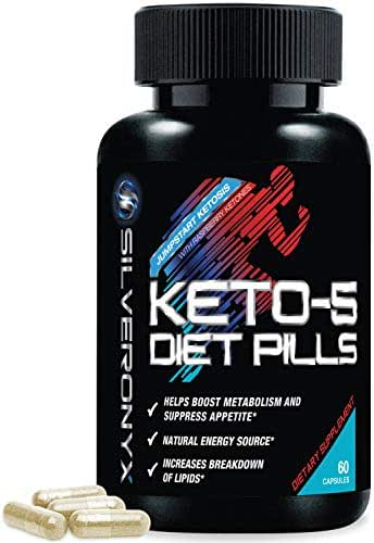 Keto Diet Pills Extra Strength Ketosis Supplement to Burn Fat Fast - Made in The USA - Advanced Ketogenic Weight Loss Vitamin to Boost Energy & Metabolism for Women & Men, Non-GMO - 60 Capsules