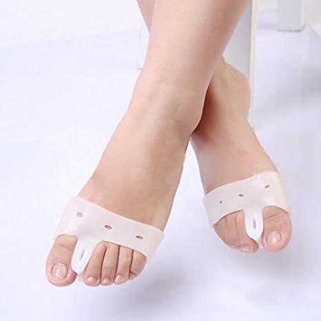 Silicona Toe plantillas Hallux Valgus Toe separador juanete alivio atención de pie para las mujeres JH-24: Amazon.es: Electrónica