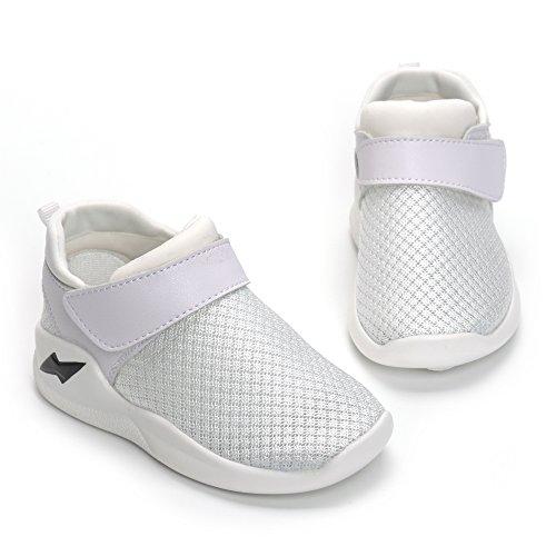 MK MATT KEELY Kids Mesh Running Sneakers Baby Boys Girls Anti-Slip Casual Shoes White 26 by MK MATT KEELY (Image #3)