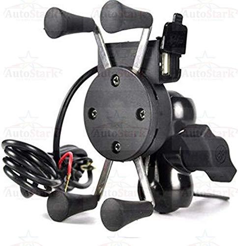 AutoStark Motorcycle Phone Mount, Universal Bike Cell Phone Spider Bike Multifunctional Mobile Holder X Grip Handlebar…