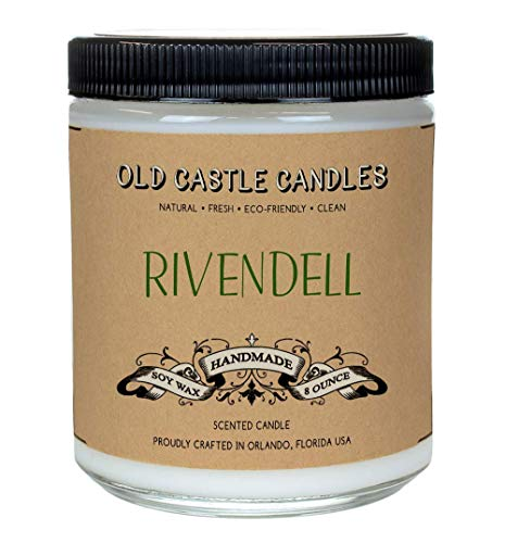 Rivendell Book Candle, 8 oz Soy Bookish Candles for Literary Lovers