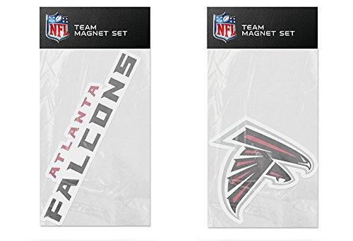 Rico Industries NFL Atlanta Falcons 2-Pack Die Cut Team Logo Magnet Set